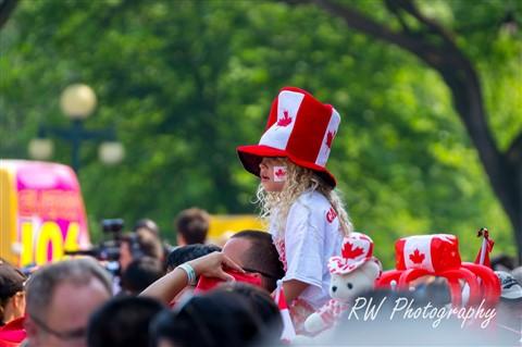Living Flag Canada Day Winnipeg