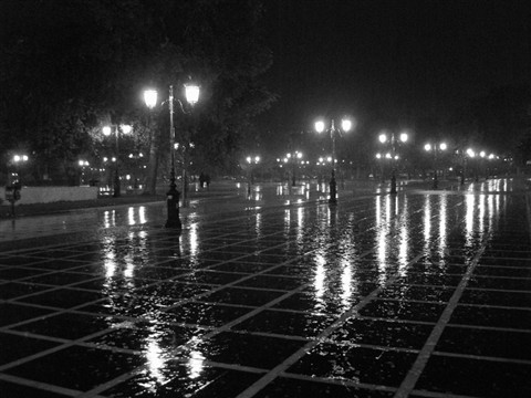 Rainy night in Thessaloniki