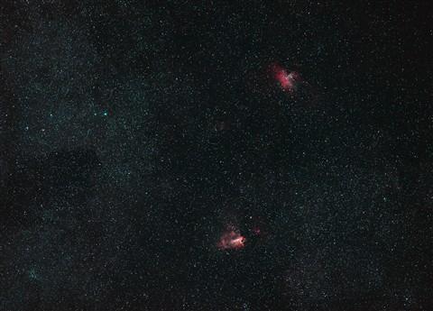 M16 and M17 emission nebulae