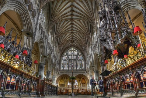 Exeter Cathedral Altar & Choir Stalls LWA52 Tone Map