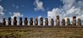 Moai. Ahu Tongariki. Rapa Nui.