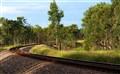 Railroad Tracks around the bend
