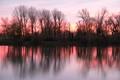 Sunset, Zagreb lake Jarun