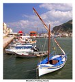Greek fishing boats bordered