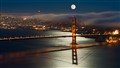 Super Moon Over Golden Gate Bridge