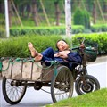 Sleeping Guy on Tricycle  009