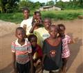 sierra leone village children group