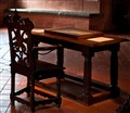Writing Table and Chair, Castle of Gruyeres, Switzerland