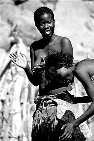 Dancing Girls at Twyfelfontein Namibia