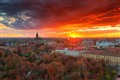 Timisoara at sunset