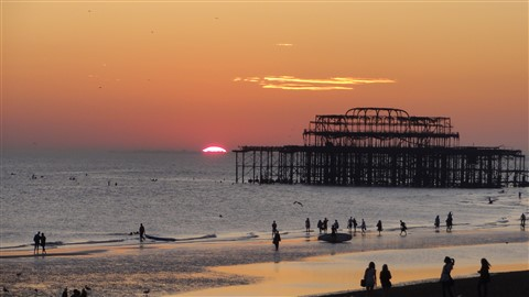 Sunset Brighton UK