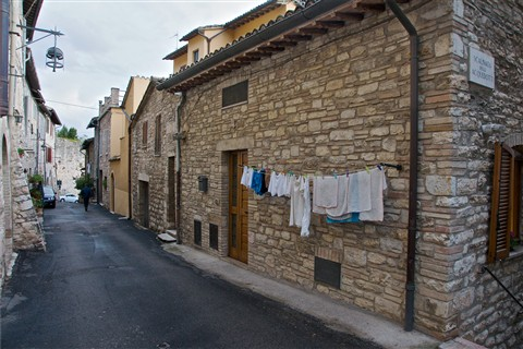 Clothesline in Assisi