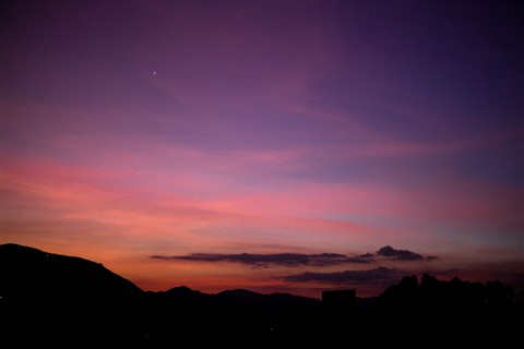 Shining Venus Star before dawn