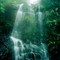 Exotic beauty of Victoria Peak waterfall in Hong Kong