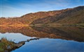 Lake at Llyn Dinas, Snowdonia, Wales