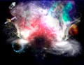 Space + sky pict + smoke pict + synthesis image + photoshop of course
