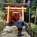 Salaryman visiting Fushimi Inari Shrine