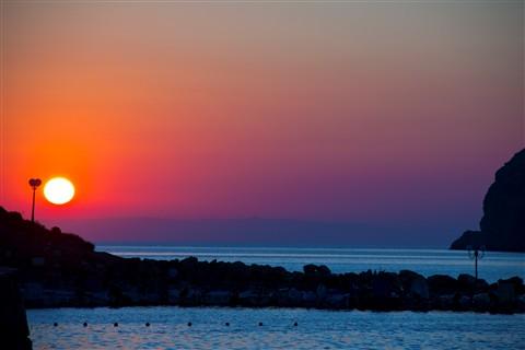 Sunset at a Greek beach