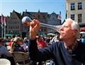Brugge Tourist Drinking Beer