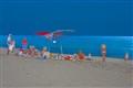 Sun burns on the beach