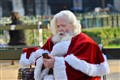 Even Santa Klaus love to browse his smartphone