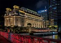 Located at the mouth of the Singapore River, the building was built in the 1920's to house government offices and the General Post Office. Fully restored in 2001, it is now a 5-star 400 room hotel in Singapore's city center.