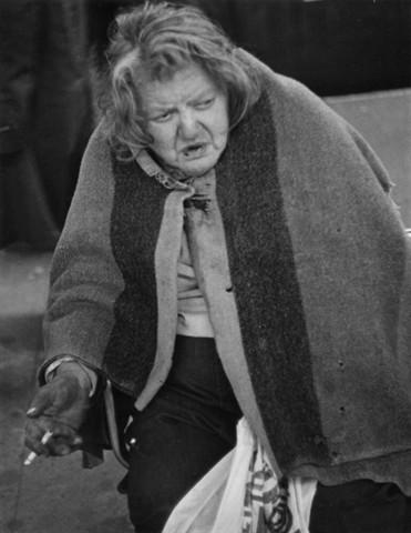 Bag Lady & Cigarette 4, NYC, 1977: phototransformations ...
