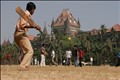 Playing cricket in Mumbai close to Victoria statiosn