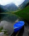 A Swiss lake and a boat