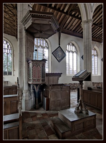 Salle Church pulpit and lectern