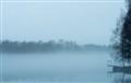 Skellefteå river morning fog