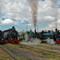Rare quadruple parallel steam departure, Bogota R1005427 Bogotá Turistren