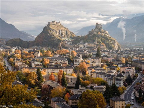 Sion in morning autumn light