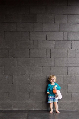 All smiles by the big wall 1