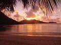 Sunset in Praslin, Seychelles