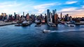 New York Harbor at dusk