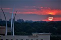 Sunset Over the Air Force Memorial and Arlington Cemetery