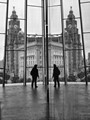 The Liver Building viewed from the Museum of Liverpool.