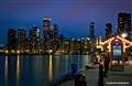 Blue hour at Chicago Navy Pier