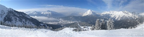 Seefeld Austria  from the Rosshutte