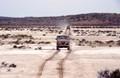 Coming across salt lake in Simpson Desert