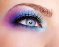Close-up beauty makeup shot