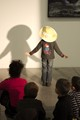Kids experimenting with hats and shadows, creating new identities. A workshop I pictured in an art gallery close to home (Vog, Fontaine, France).