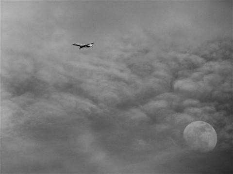 avion et lune