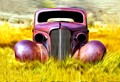 At Bodie, California sits this tin shell. It is the corpse of a 1936 Chevrolet Business coupe.