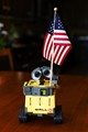 Wall-E holding the USA flag high. The colors went so well together, I had to snap it.