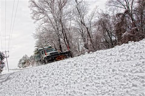 winter snow scene_