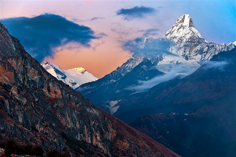 NPL-26524 Ama Dablam at Sunset