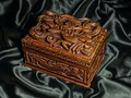 Dragon Design Carved Wooden Box from Nepal