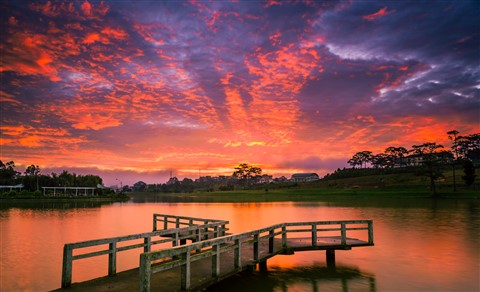 Dawn at Xuan Huong Lake, Da Lat